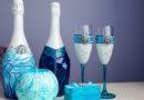 Оформление шампанского на свадьбу
