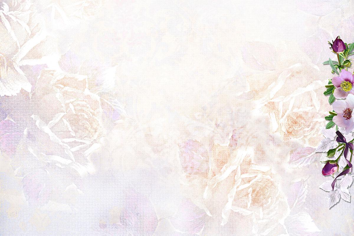Свадебное приглашение с нежными цветами