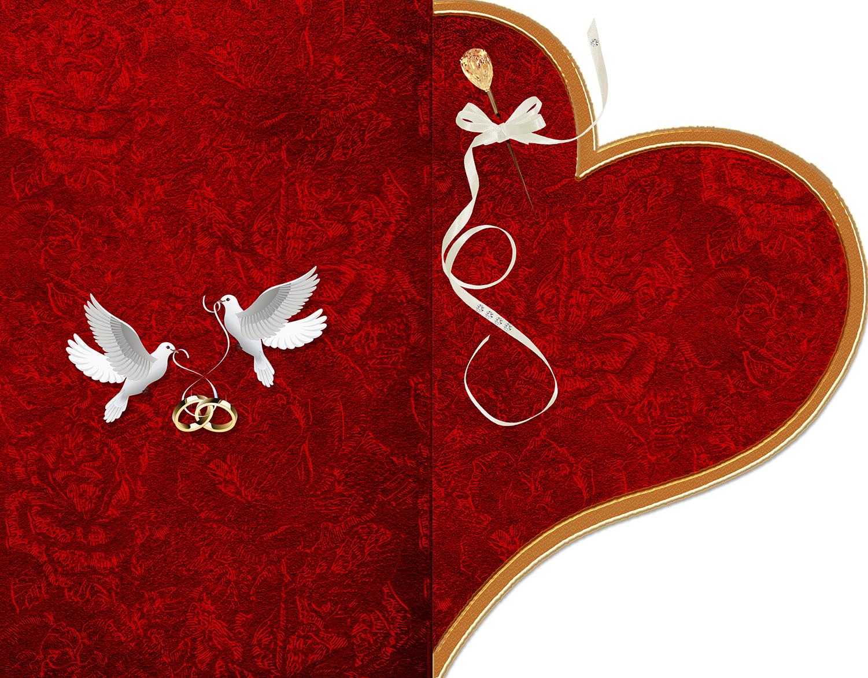 Шаблон приглашения в форме сердца