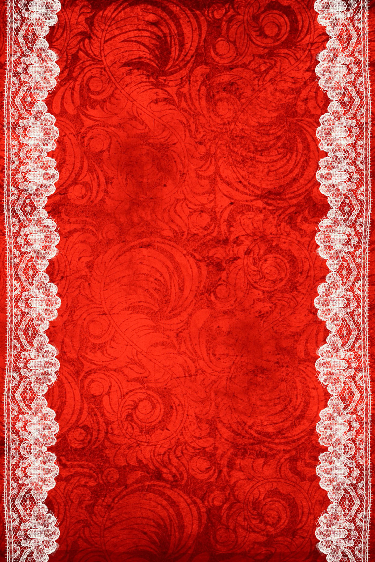 Шаблон приглашения-свитки в красных тонах