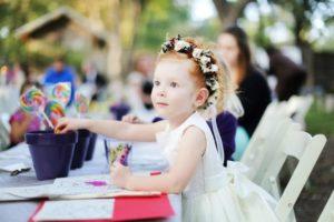 Детский свадебный стол