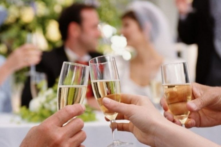 Алкоголь на свадьбе