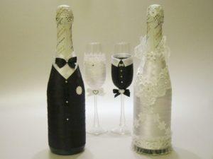 Бутылки шампанского Жених и Невеста
