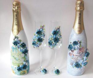 Украшение для шампанского из полимерной глины