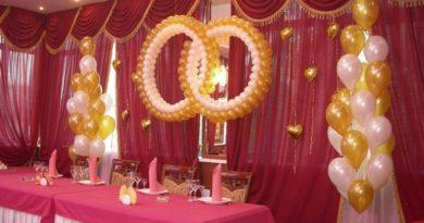 Оригинальные идеи оформления зала шарами на свадьбу