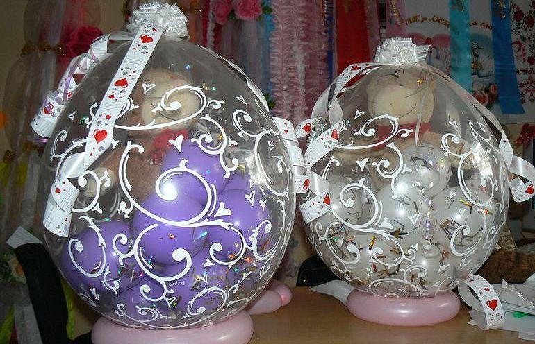 Воздушные шары - сюрпризы